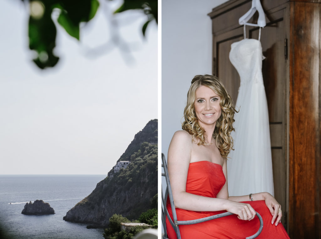 Bride in Praiano, Amalfi Coast