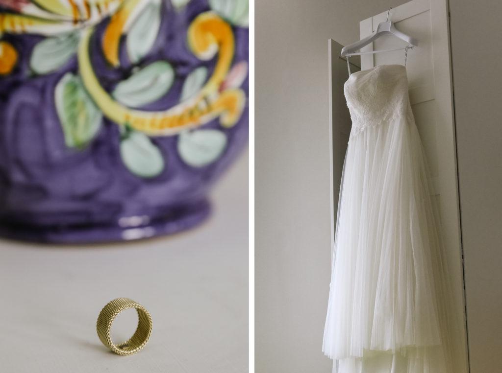 Wedding dress in Praiano, Amalfi Coast